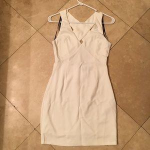 White cocktail mini dress